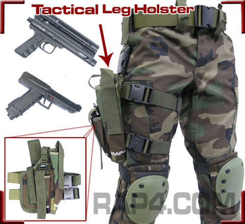 BLACK Tactical Leg Holster Right Hand Large