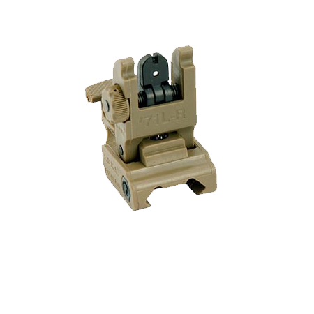 Tan Tactical Flip Up Sight (Rear)