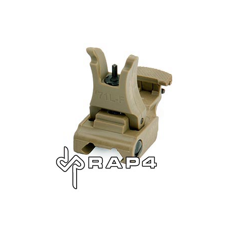 Tan Tactical Flip Up Sight (Front)