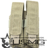 MOLLE Double Advanced Sidearm Magazine Pouch