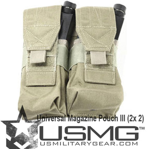 TAN MOLLE  Double Universal Magazine Pouch