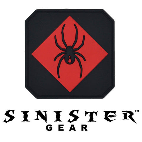 "Sinister Gear ""Widow"" PVC Patch - Red"