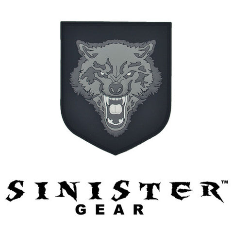 "Sinister Gear ""Wolf"" PVC Patch - Grey"