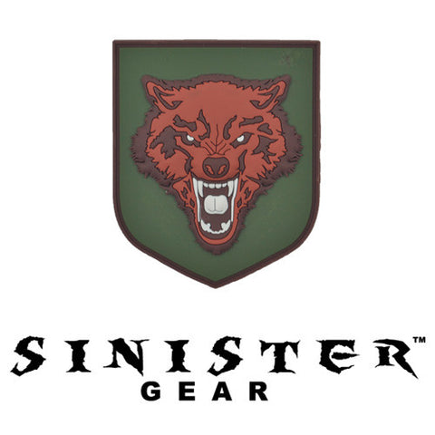 "Sinister Gear ""Wolf"" PVC Patch - Red"