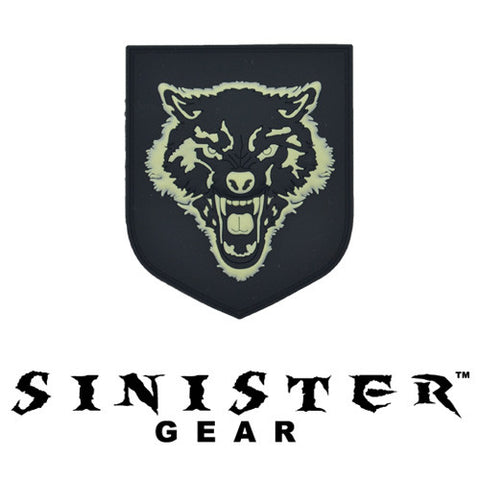"Sinister Gear ""Wolf"" PVC Patch - SWAT (Glows in the Dark)"