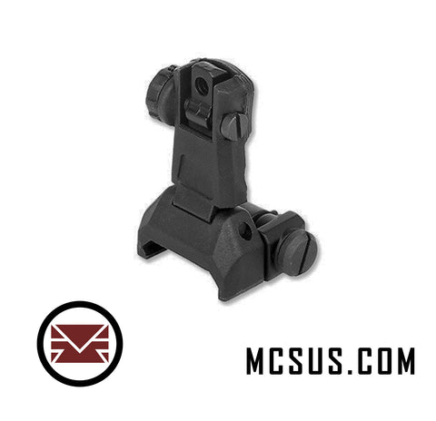 Alpha Low Profile Tactical Flip Up Sights (Rear)