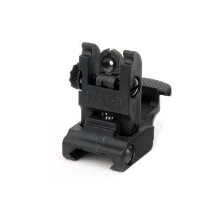 Black Tactical Flip Up Sight (Rear)