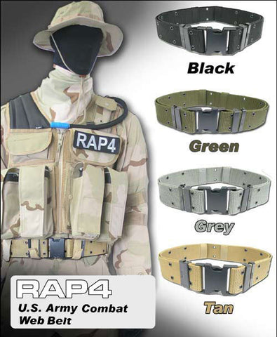 BLACK Combat Web Belt