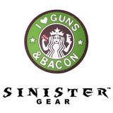 "Sinister Gear ""Guns & Bacon"" PVC Patch"