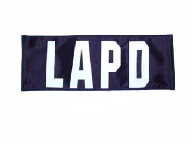 LAPD Patch Small (Black)