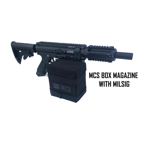 MCS Gen2 Box Drive Magazine For Milsig Paintball Gun with Roundhead Magazine (Pre-order)
