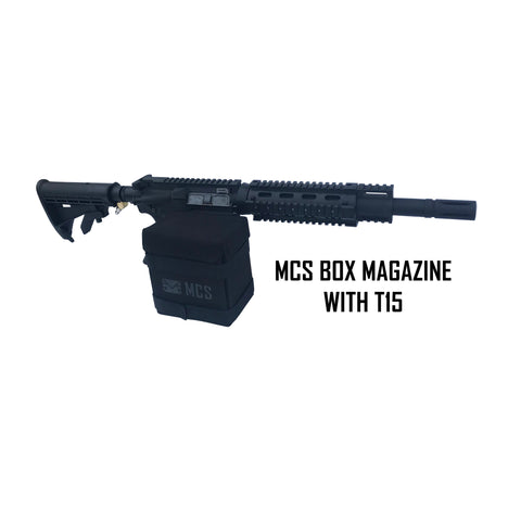 mcs box magazine with t15 paintball gun