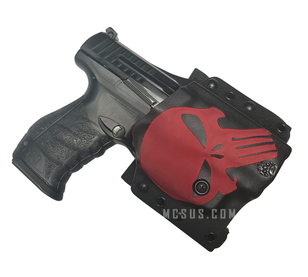 Walther PPQ M2 Kydex Holsters With Custom Red Punisher Skull