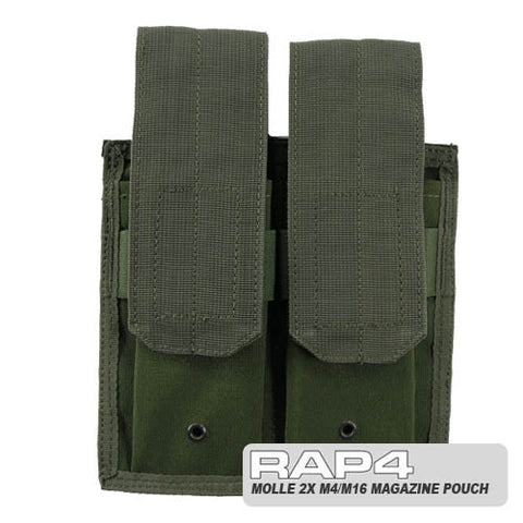 OLIVE DRAB MOLLE Double M4 DMAG & Helix Magazine  Pouch