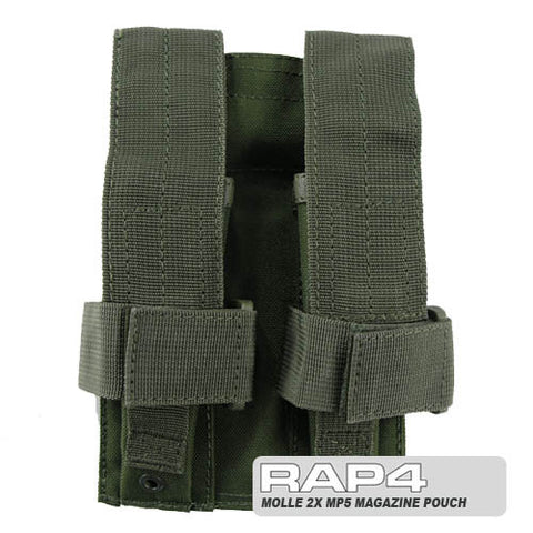 OLIVE DRAB MOLLE Double MP5 Magazine Pouch