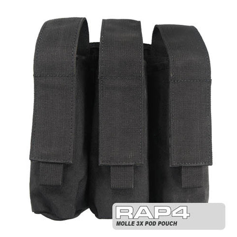 BLACK Triple Pod Pouch
