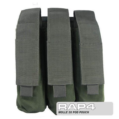 OLIVE DRAB MOLLE Triple Pod Pouch