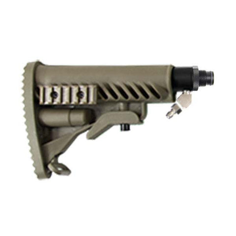 Solid Remote Line Adapter & M4 Ribcage Butt Stock Kit (Tan)