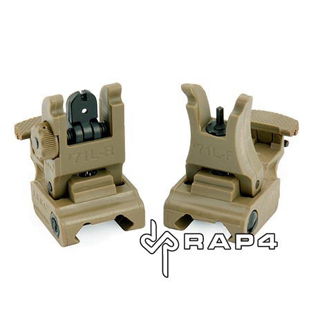Tan Tactical Flip Up Sights (Front and Rear Set)
