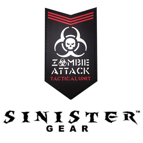 "Sinister Gear ""Zombie Attack"" PVC Patch"