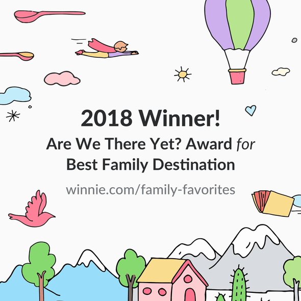 2018 Winnie best family destination winner!
