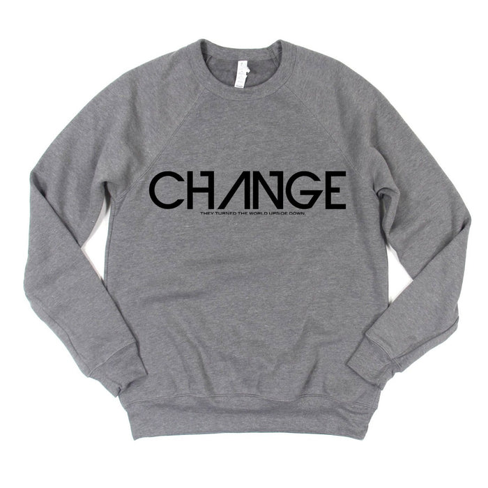 "Heather Grey ""CHANGE"" Sweatshirt"