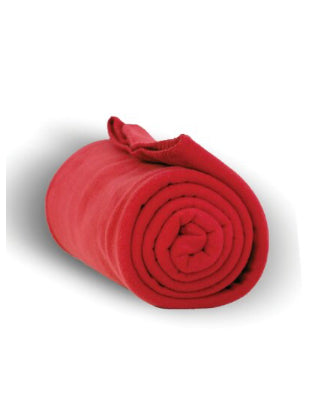 Red Fleece CHANGE Blanket