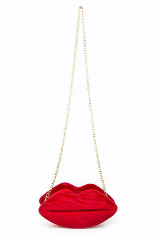 Red Glam Lips Clutch