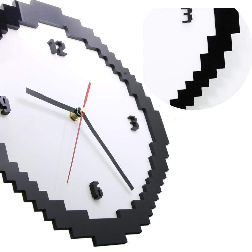 1Piece Classic Pixel Time Clock Retro Style Wall Clock Living Room Home Decoration Vintage Pixel Wall Clock|Wall Clocks