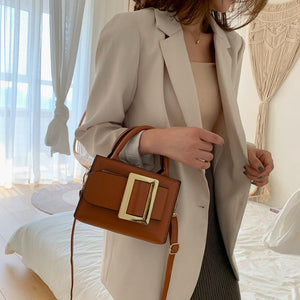 2020 Belt Decoration Small Luxury Handbags Women Leather Crossbody Bags For Female Designer Bolsa Feminina Shoulder Sling Bag|Shoulder Bags