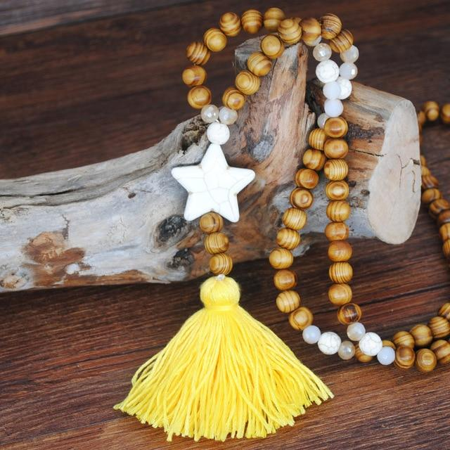 Astrid Wood Beaded Necklace N2203
