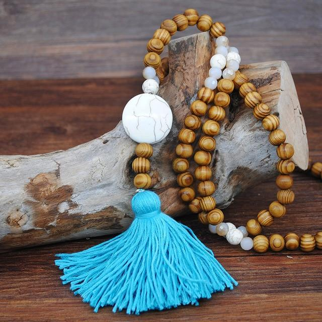 Astrid Wood Beaded Necklace N2206