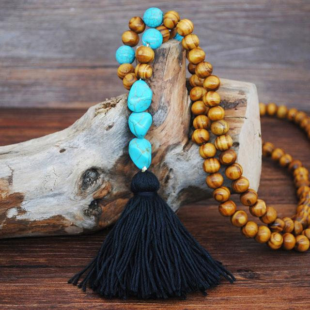 Astrid Wood Beaded Necklace N2225
