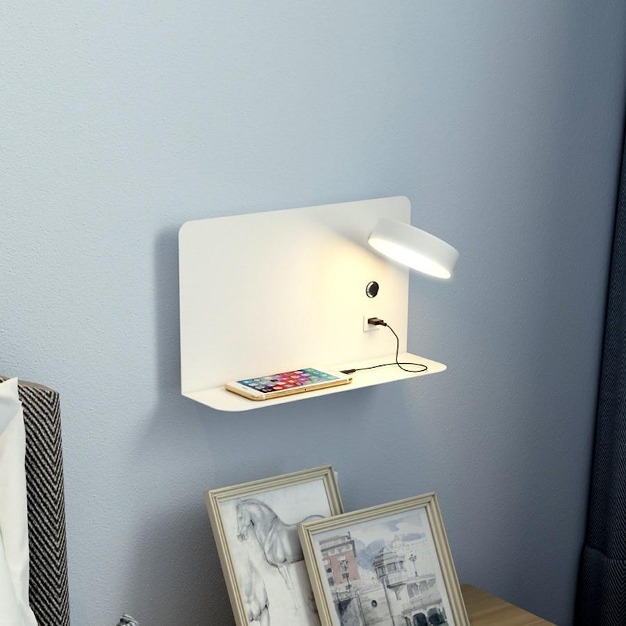 Blentis Bedside LED Shelf