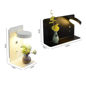 Blentis Bedside USB Shelf