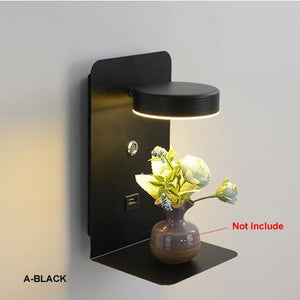 Blentis Bedside LED Shelf Small - Black