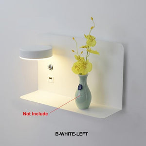 Blentis Bedside LED Shelf White - Left