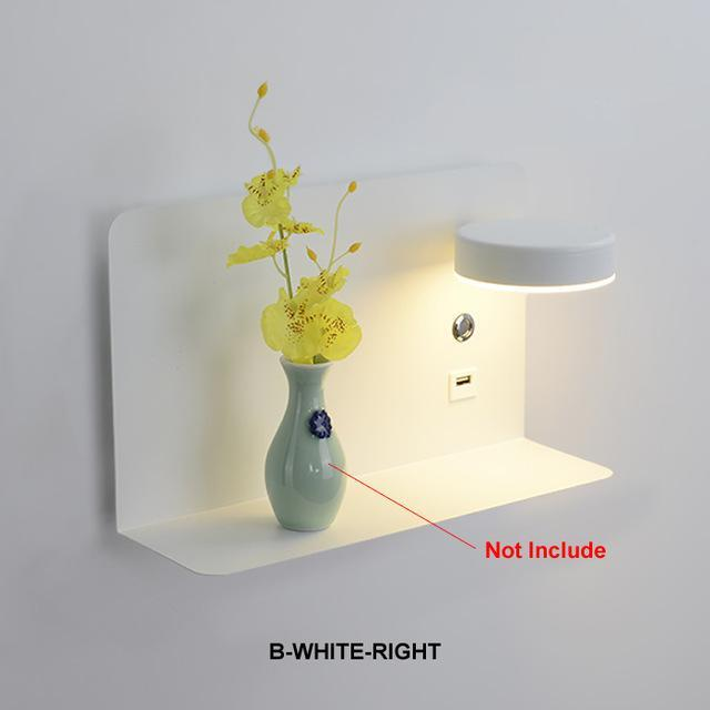 Blentis Bedside LED Shelf White - Right