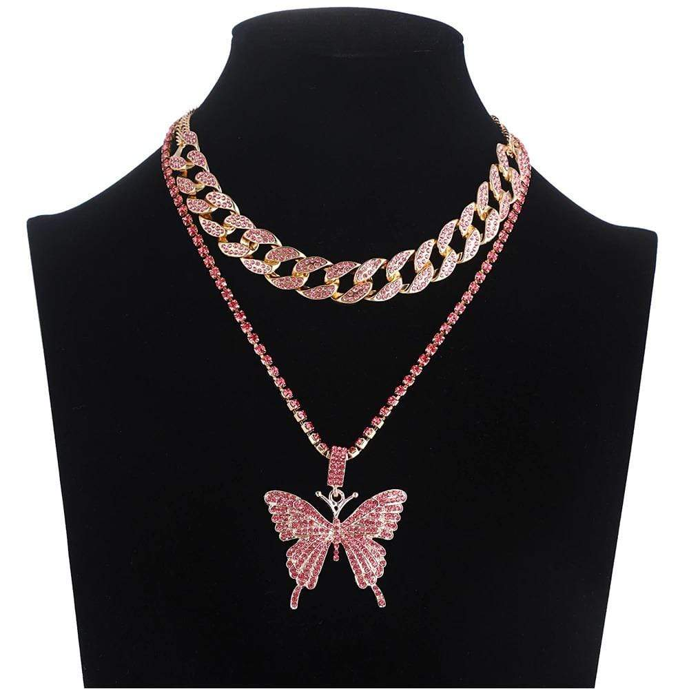 Blingin' Butterfly Necklace