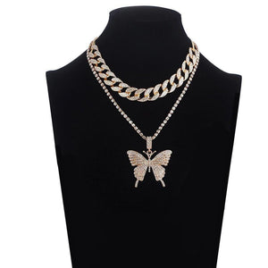 Blingin' Butterfly Necklace Gold