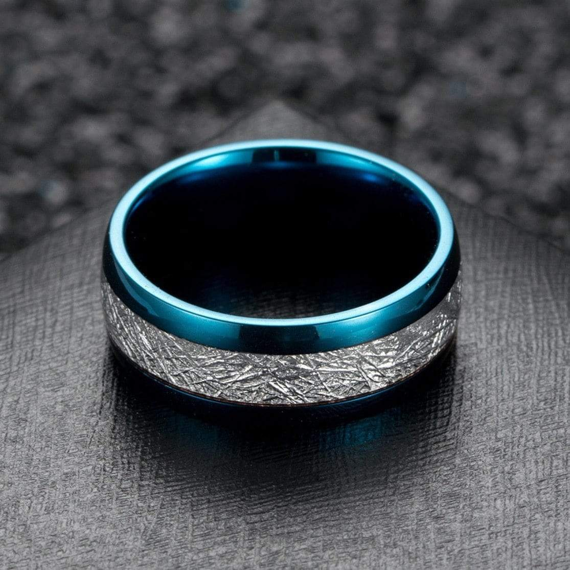 Bolide Tungsten Carbide Ring 7 / Blue