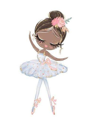 Cute Cartoon Ballet Dancing Girl Picture Sweet Home Decor Nordic Canvas Painting Wall Art Poster Pink Print for Girl's Bedroom|Painting & Calligraphy 13x18cm no frame / A-BLT8889