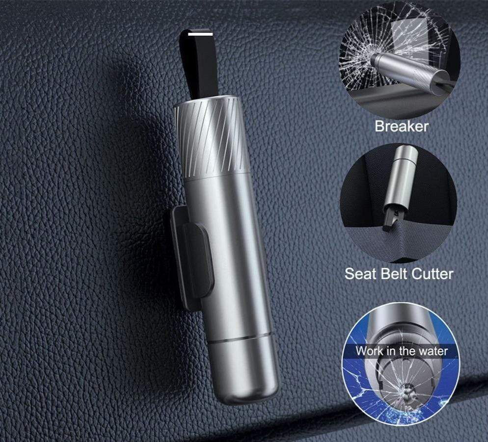 Escape in water New Portable Multi Function Emergency Glass Breaker Seat Belt Cutter Car Outdoor Self Defense EDC Tool Gift|Self Defense Supplies