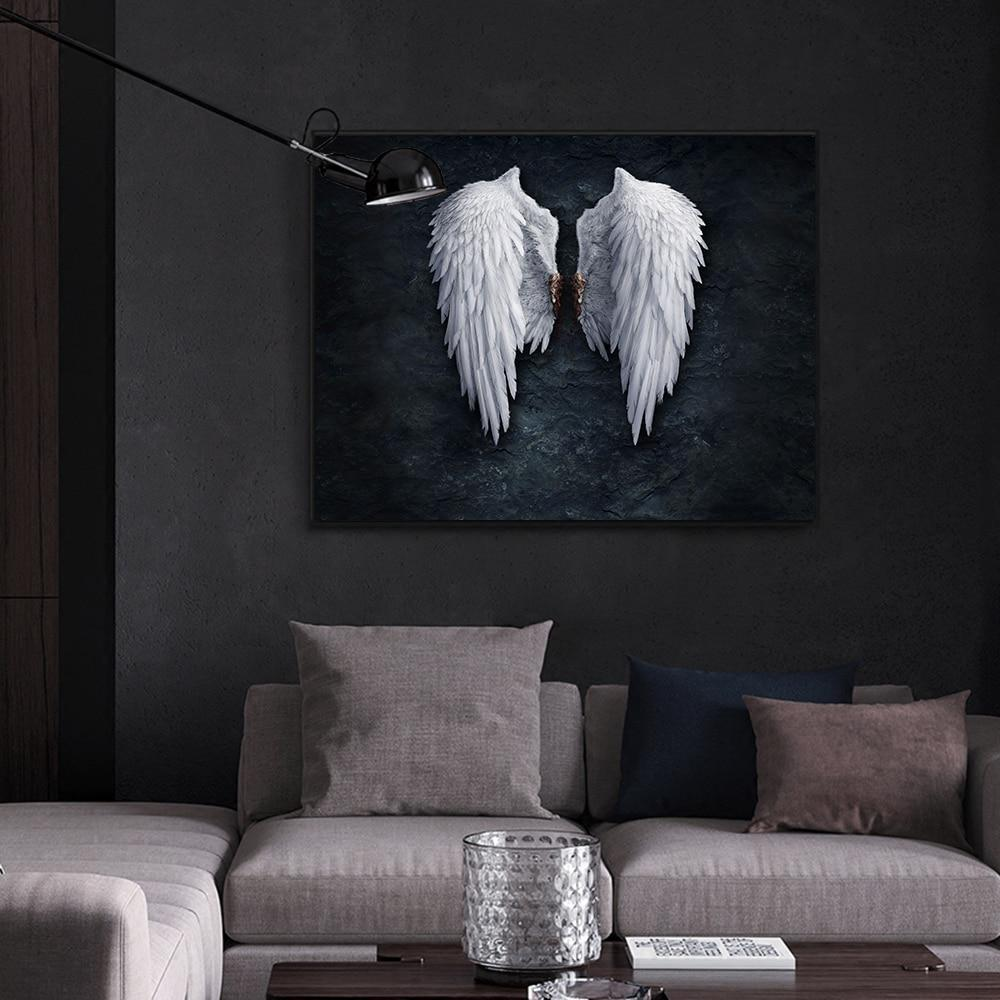 Fallen Angel Canvas Wall Art