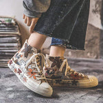 Flower Power Canvas Shoes Khaki / 4