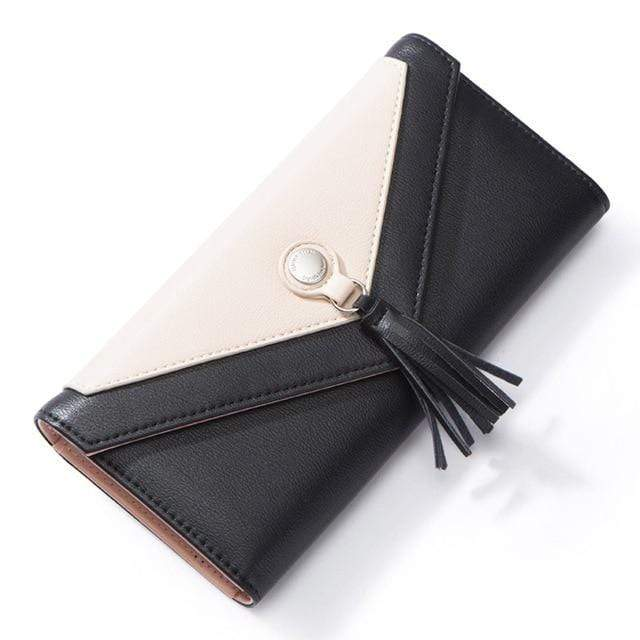 Geometric Envelope Tasseled Wallet