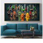 Herbs and Spices for Cooking Canvas Art Posters And Prints Kitchen theme Canvas Paintings On the Wall Art Pictures Cuadros Decor|Painting & Calligraphy
