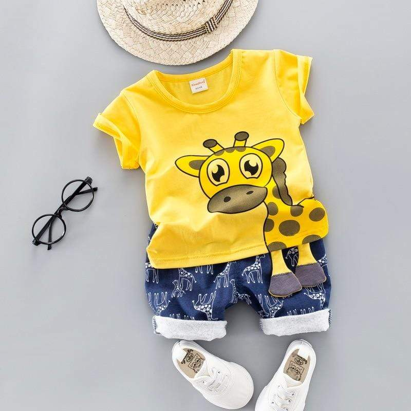 Little Giraffe Clothing Set Yellow / 12M
