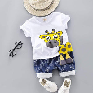 Little Giraffe Combo Set White / 12M