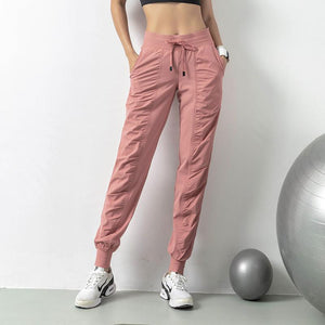 Lubo Drawstring Joggers Pink / S